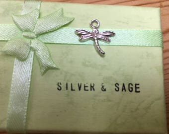 Dragonfly sterling silver necklace