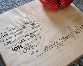 Personalized Cutting Board, Custom Cutting Board, Wedding Gift, Anniversary Gift, Housewarming Gift, Personalized Gifts. CB 108