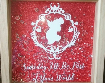 The Little Mermaid Decal Frame