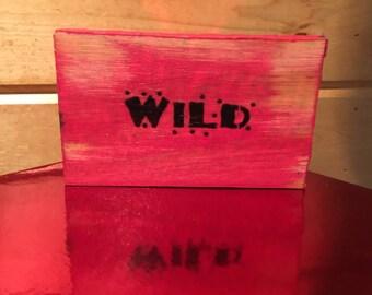 Adorable Barn Red Wood Block - Wild