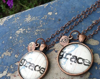 Stamped Pendant Necklace