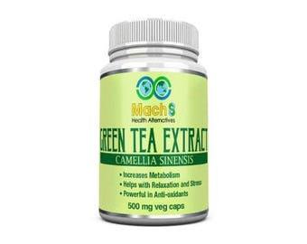 90 Green Tea Extract (ECGC) 500mg Veggie Capsules