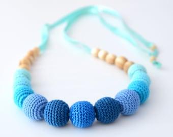 Blue Nursing Feeding Necklace