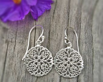 """""""Jasmine"""" - Sterling Silver earrings or rosé gold plated"""