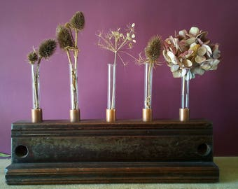 Reclaimed Test Tube Vase & Candle Holder