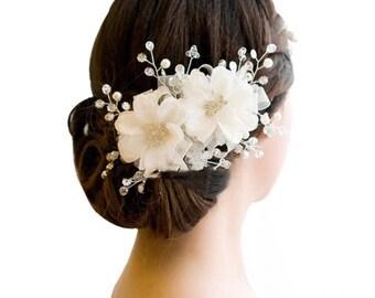 Beautiful Bridal Floral Hair Piece