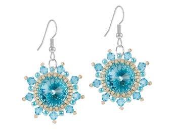Earrings Kit Arabian Star with Swarovski® Crystals - Turquoise