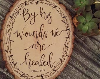 Bible Verse Woodburn Sign (Wood Sign, Woodburn Sign, Biblical Home Decor, Mother's Day Gift, Birthday Gift, Baptism Gift, Handlettered Sign)