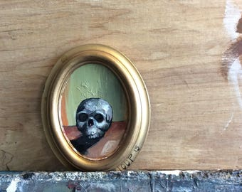 Small scull painting