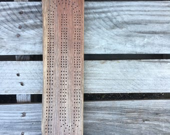 Live Edge Cribbage Board