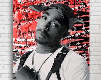 Tupac Stencil Etsy