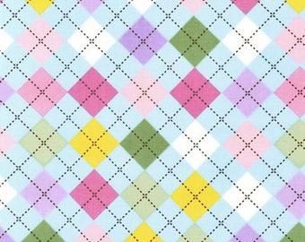 Argyle Spring Cotton Fabric - Remix Fabric- Robert Kaufman Fabrics