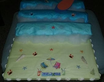 Beach Diaper Cake