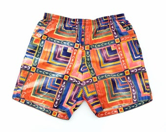 vintage BEACH SHORTS by Jockey / mens size 40-6 / to fit M-L / surf shorts / neon 80s-90s /