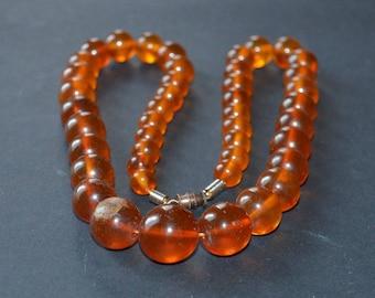 amber Baltic Honey Beaded Necklace
