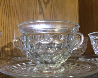 American Fostoria Tea/Punch Cup and Saucers