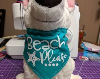 Beach Please! Dog Bandana