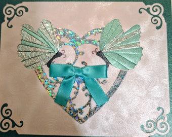 Iris Folding Anniversary Greeting Card