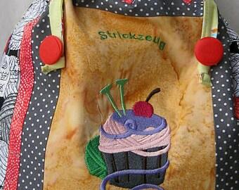 knitting bag - cupcake