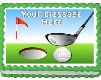 GOLF edible cake topper party image