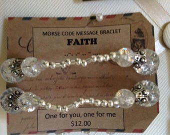 MoRSe CoDe MeSSaGe***FaiTh BrAcELet*** secret code one for you one for me!