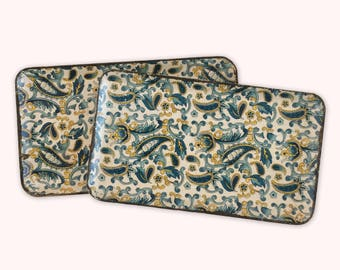 Vintage Japanese Paisley Decorative Trays