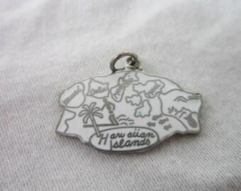 Vintage Hawaii U S State Souvenir Enameled Charm or Pendant