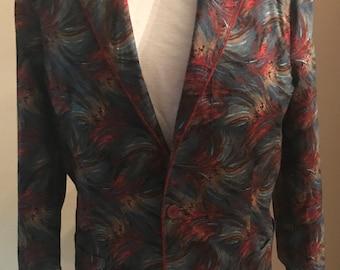 Multi print sportcoat