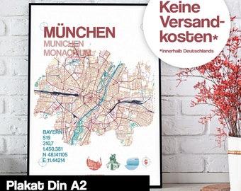 Poster - Munich map