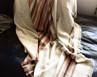 Vintage handmade blanket | Knitted blanket