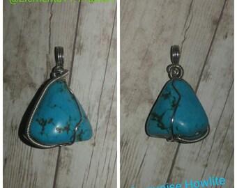 Turquoise Howlite Pendant