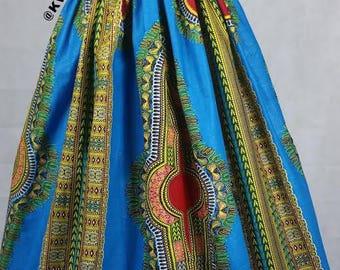 Dashiki maxi skirt, Angelina maxi skirt, African wax maxi skirt, Ankara maxi skirt