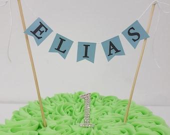 Customised Bespoke Cake Bunting - perfect for your celebration cake.  Birthday, baptism, baby shower, christening etc.