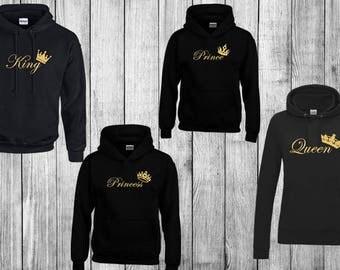 matching hoodie / sweater / hoodie / logo hoodie / fashion hoodie / king hoodie / queen hoodie / prince hoodie /princess hoodie / matching