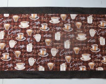 Coffee Theme Table Runner