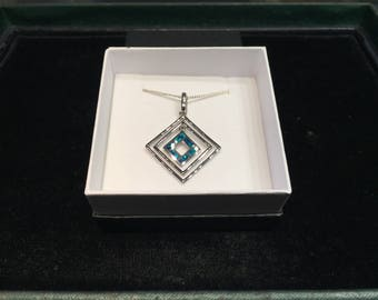 Sterling Silver Triplet Opal (Square)