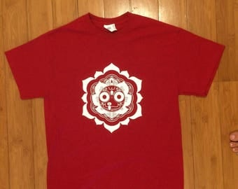 Jagganatha,Transcendental sacred geomentry T-shirt in Red