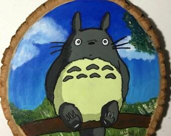 Custom Painting on Round Wood