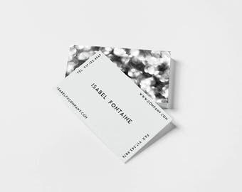 Bokeh Noir v. 1 Business Card Template, Business Card Design, Template, Branding Kit, Printable, Business Cards, Custom Cards, Bokeh, Modern
