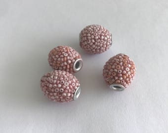 Rose Pink Accent Beads