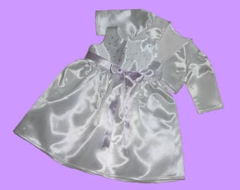Christening Gown, Rhinestone with Bolero lilac New Gr. 56,62,68,74