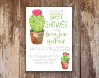 Printable Baby Shower Invitation- Jane Collection