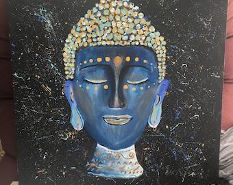 Buddha Acrylic-Canvas Custom Made Painting