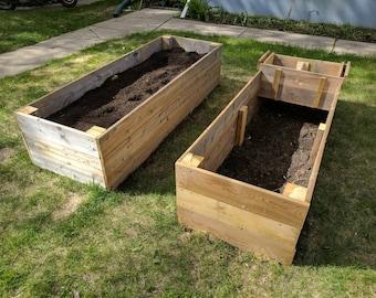 Custom, modular raised garden boxes