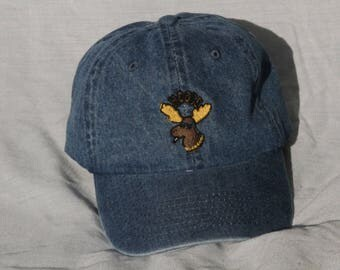 Hoose Moose Dad Hat (Denim)