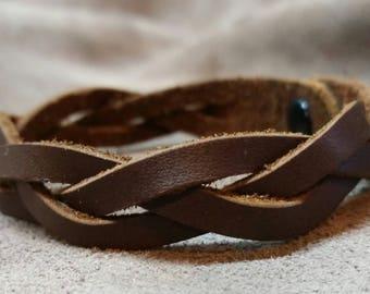 Leather 'Mystery Braid' bracelet