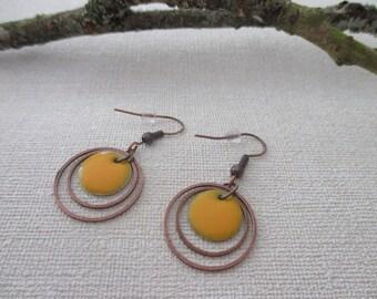 Earrings rings and sequins