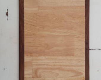 Maple Walnut Edged cutting board