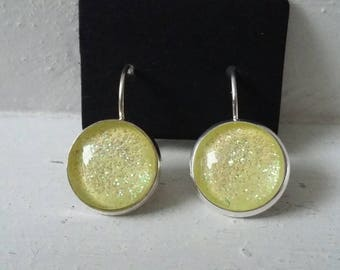 Yellow Galaxy earrings