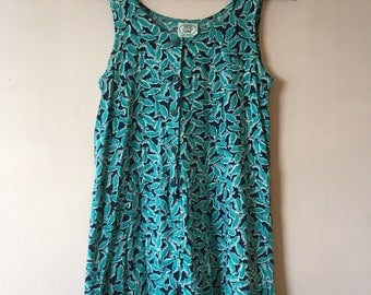 Laura Ashley jumpsuit with cute fish pattern